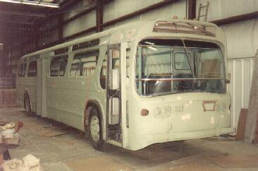 Coach 641 during the restoration process